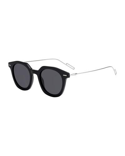 Men's Diormaster Round Acetate/Metal Sunglasses