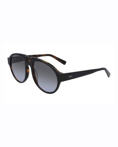 Men's Architectural Gradient Aviator Sunglasses