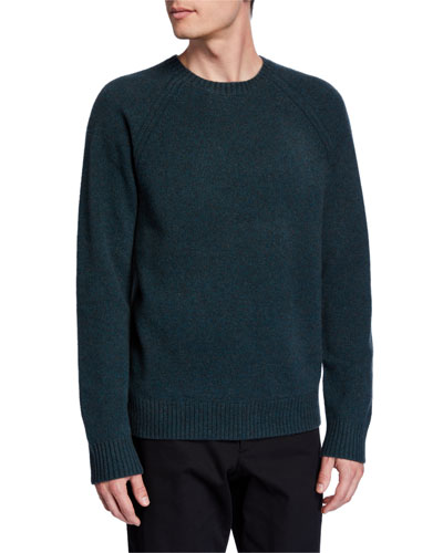 Men's Crewneck Raglan Long-Sleeve Sweater