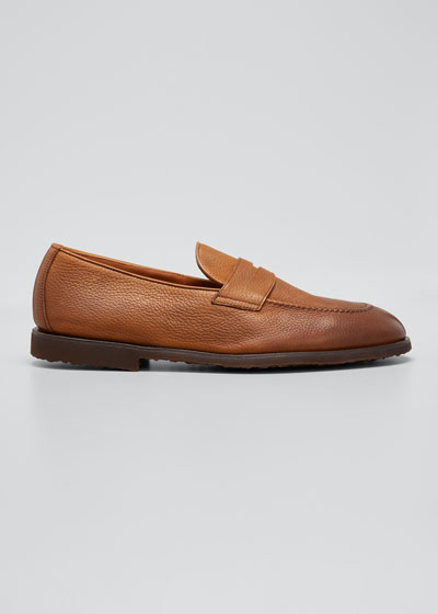 Men's Flex Sole Leather Penny Loafers