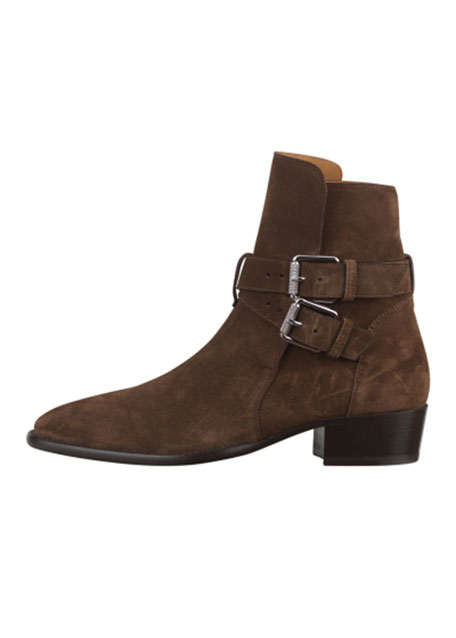 Image 1 of 1: Men's Buckle Suede Ankle Boots