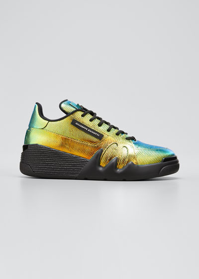 Men's Talon Iridescent Lizard-Print Sneakers
