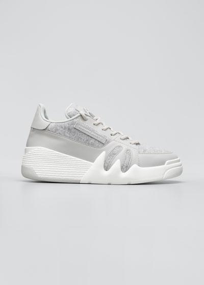 Men's Plancha Talon Felt and Leather Platform Sneakers