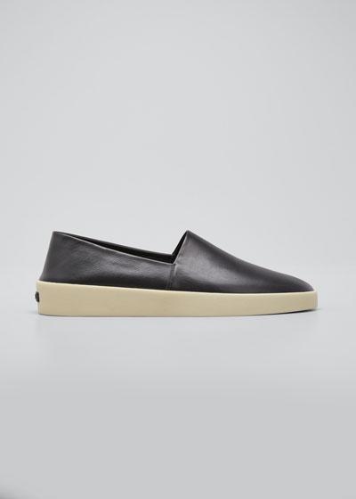 Men's Smooth Leather Espadrilles