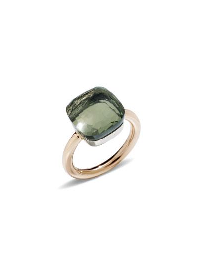 Nudo Rose Gold & Prasiolite Grande Ring