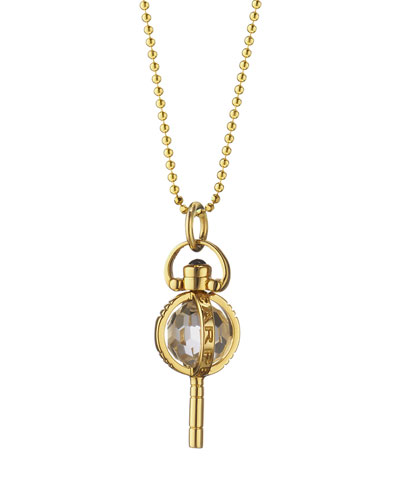 Mini Carpe Diem Sapphire Key Necklace