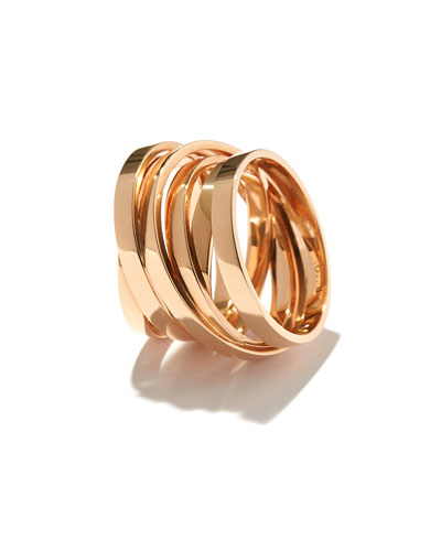 Technical Berbère Ring in 18K Rose Gold