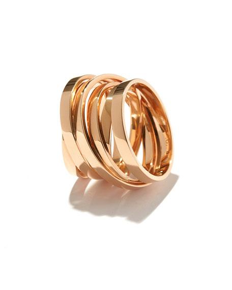 Technical Berbère Ring in 18K Rose Gold