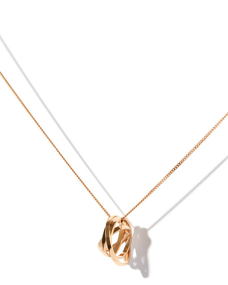 Technical Berbère Pendant Necklace in 18K Rose Gold