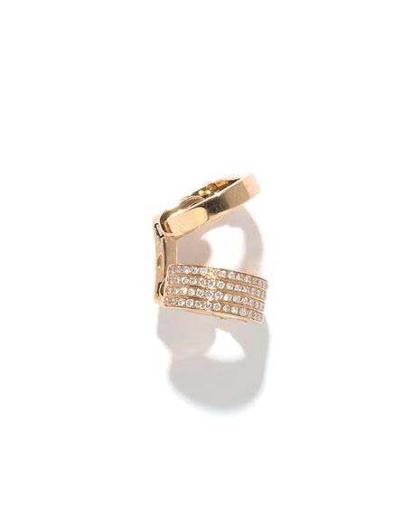 Single Berbère Double-Cuff Earring with Diamonds, 0.22tdcw