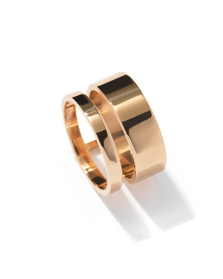 Berbère Two-Row Band Ring in 18K Gold