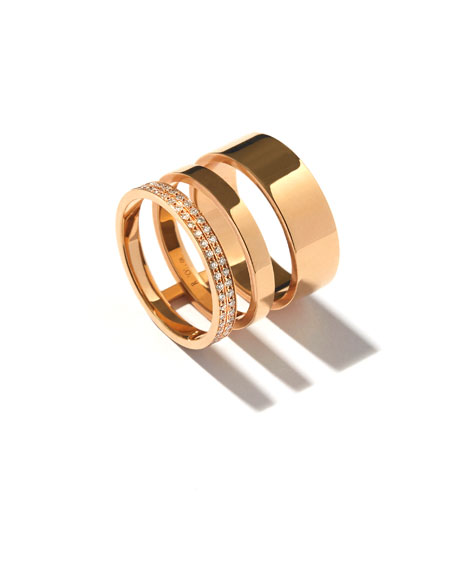 REPOSSI TECHNICAL BERBèRE DIAMOND THREE-ROW BAND RING IN 18K GOLD