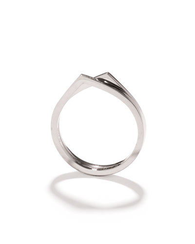 Antifer Two-Row Ring in 18K White Gold