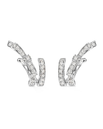Ruban Couture Earrings with Diamonds