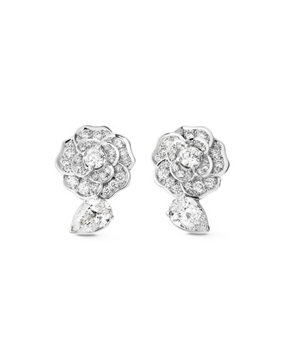 CAMELIA PRECIEUX Earrings in 18K White Gold and Diamonds