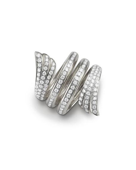White Gold Mercury Ring w/ Pavé Diamonds