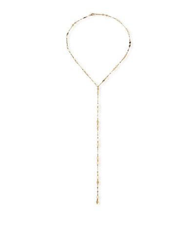 14k Gold Blake & Mini Kite Drop Lariat Necklace