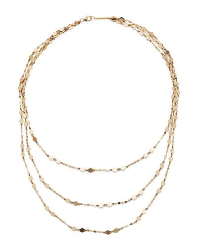 14k Gold Roma Triple-Strand Necklace