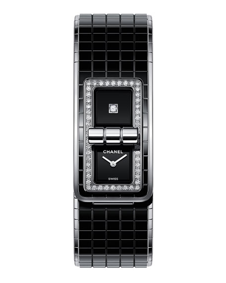 CHANELCODE COCO WATCH Steel & Ceramic set with