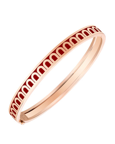 L'Arc de Davidor 18k Rose Gold Bangle - Petite Model, Bordeaux