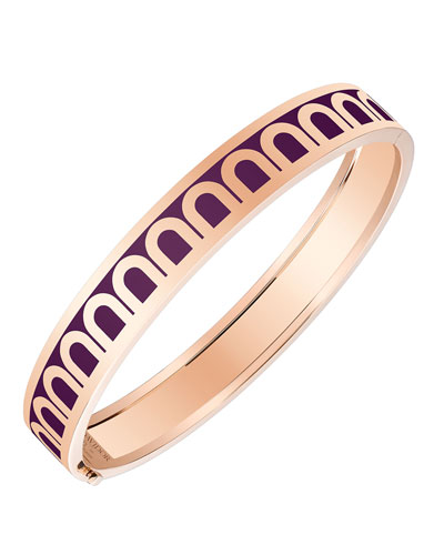 L'Arc de Davidor 18k Rose Gold Bangle - Med. Model, Aubergine, 6.25