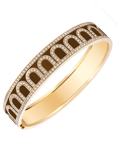 L'Arc de Davidor 18k Gold Diamond Bangle - Grand Model, Cognac