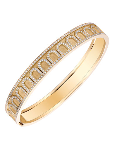 L'Arc de Davidor 18k Gold Diamond Bangle - Med. Model, 6.25