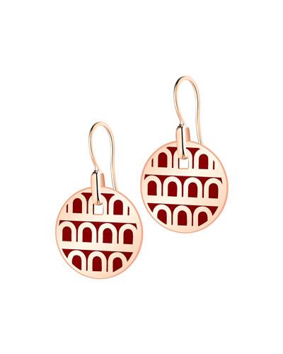 L'Arc de Davidor 18k Rose Gold Drop Earrings - Petite Model  Bordeaux