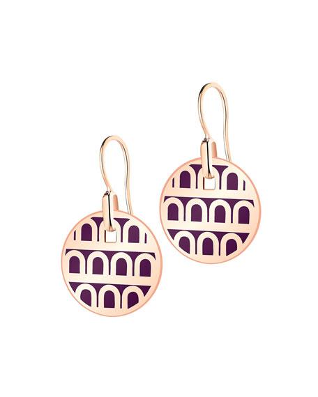 L'Arc de Davidor 18k Rose Gold Drop Earrings - Petite Model, Aubergine