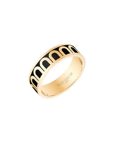 L'Arc de Davidor 18k Gold Ring - Med. Model  Caviar  Sz. 6