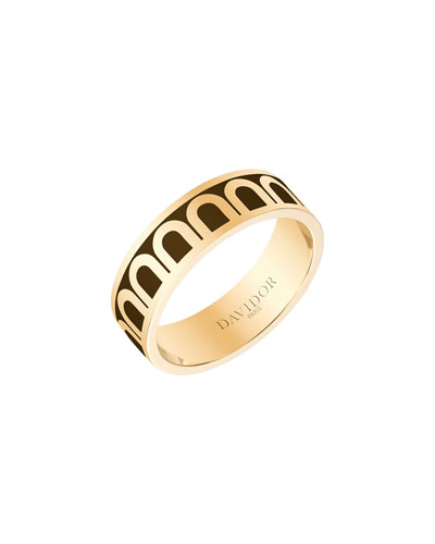 L'Arc de Davidor 18k Gold Ring - Med. Model  Cognac  Sz. 7.5
