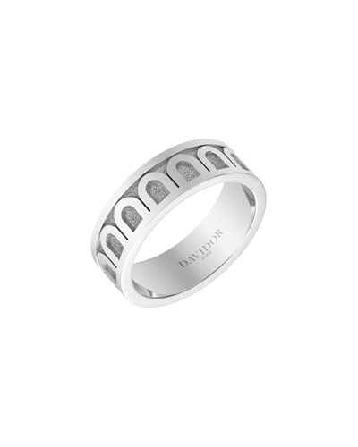 L'Arc de Davidor 18k White Gold Ring - Med. Model  Sz. 7