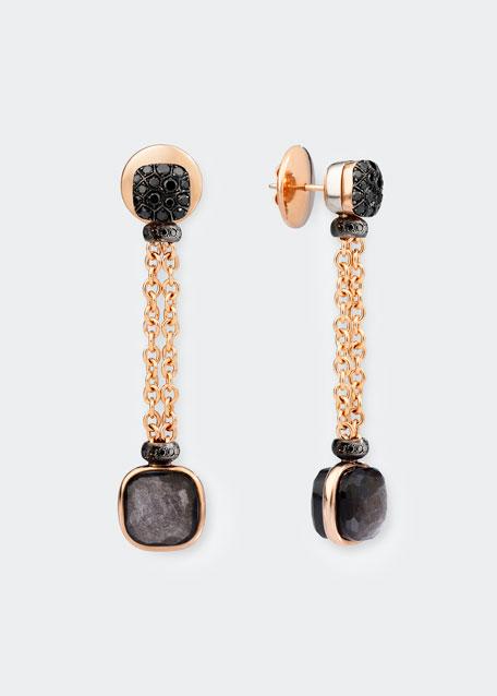 Nudo 18K Obsidian & Black Diamond Drop Earrings