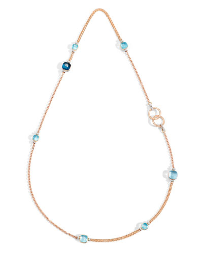 NUDO 18k Long Topaz & Diamond Necklace  35L