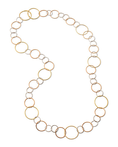 18k Gold Open Ring Necklace