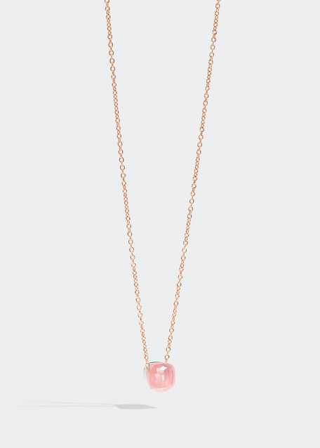 Nudo Pink Doublet Pendant Necklace