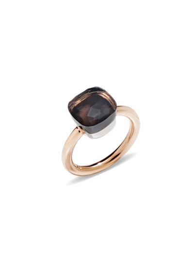 Nudo 18k Rose Gold Smoky Quartz Ring