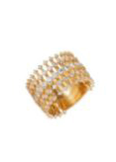Brilliant 18k Gold Floating Diamond Ring, Size 6.75