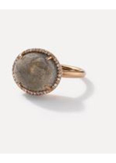 18k Rose Gold Ring Set W Sideways 1