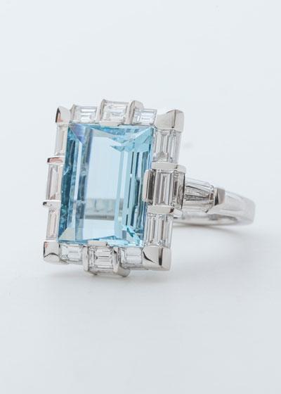Moderne Aquamarine Ring