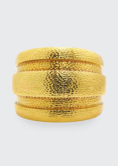 18k Barrel Cuff Bracelet
