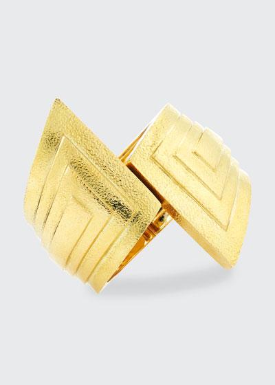18k Step Cuff Bracelet