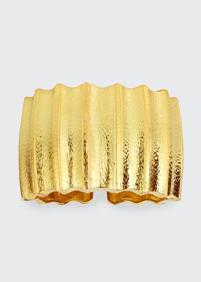 18k Furrow Cuff Bracelet