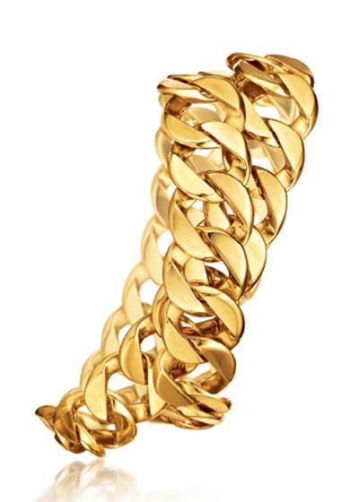 18k Double-Wrap Curb-Link Bracelet