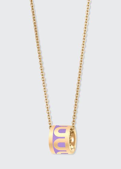 18k Yellow Gold Ceramic L'Arc Bead Necklace  Lavande