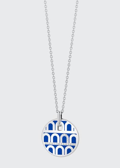 18k White Gold Ceramic and Diamond L'Arc Necklace  Riviera