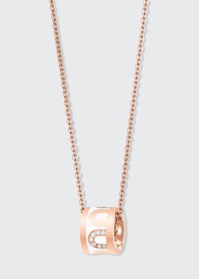 18k Rose Gold Ceramic and Diamond L'Arc Bead Necklace  Neige