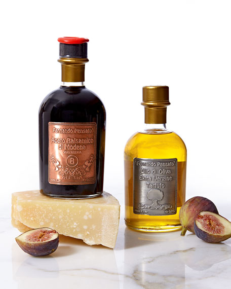 Metal Label Truffle Olive Oil & Balsamic Vinegar Set