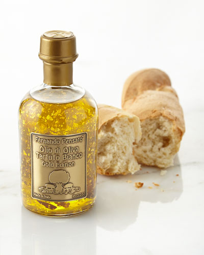 White Truffle Olive Oil with Gold Flakes