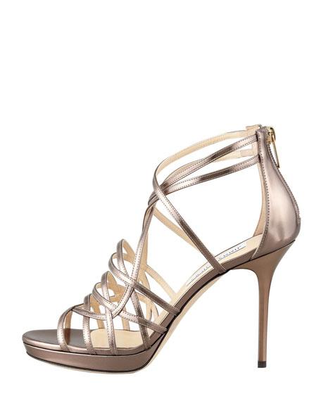 Mandie Strappy Mirrored Platform Sandal